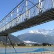 Brückenträger fertig montiert (mit Geländer komplett)